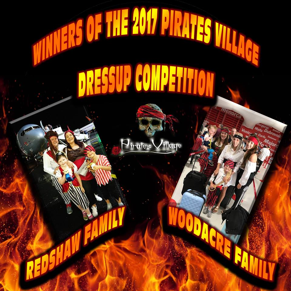 winners of the Pirates Village 2017 Dress up competition