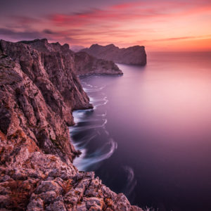Enjoy unique pink sunsets at Cap de Formentor