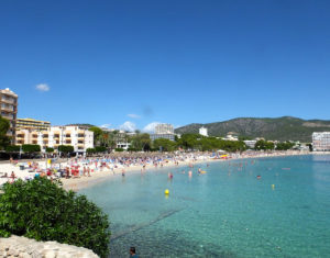 the beautiful family friendly Palma Nova beach with crystal clear water