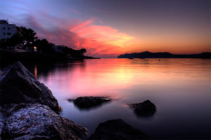 gorgeous sunset in majorca